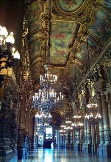 L'intérieur de l'Opéra de Paris