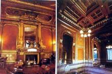 Paris, Champs Elysées: l'hôtel de la Païva: le grand salon et la salle de bain
