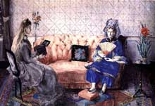Zacharie Astruc: les présents Chinois. Couleurs sur papier, 38 x 55 cm. New York, Collection du Dr. Sharon Flesher