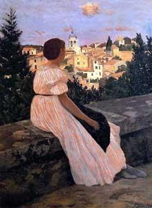 Frédéric Bazille: La robe rose. 186. Paris, Musée d'Orsay