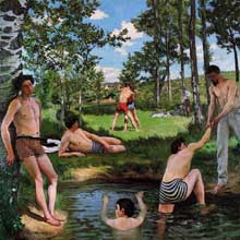 Frédéric Bazille : Scène d'été. 1869. Cambridge, Ma. USA, Fogg Art Museum, Harvard University.