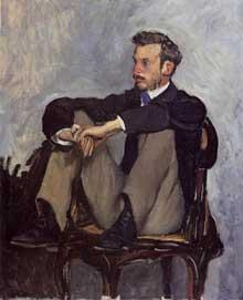 Frédéric Bazille: portrait de Pierre Auguste Renoir. 1867. Alger, Musée des Beaux Arts