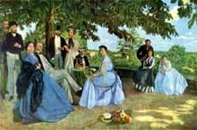 Frédéric Bazille: Réunion de Famille. 1867. Huile sur toile, 152 x 230 cm. Paris, Musée d'Orsay