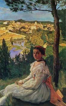Frédéric Bazille: Autportrait. 1865. Huile sur toile, 109 x 72 cm. Chicago, The Art Institute