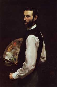 Frédéric Bazille: autoportrait. 1865-1866. Huile sur toile. Chicago, Art Institute of Chicago
