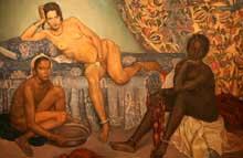 Emile Bernard: les trois races. 1898. Huile sur toile. Los Angeles County Museum of Art