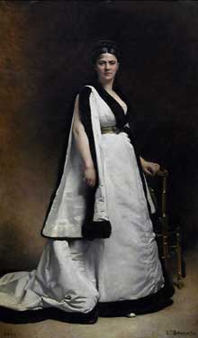 Léon Bonnat: Madame Pasca (1835-1914), artiste dramatique. 1874. Huile sur toile, 132 x 223 cm. Paris, Musée d'Orsay