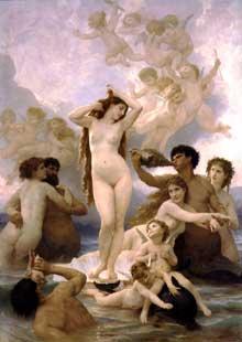 William Bouguereau: La naissance de Vénus, 1879, 300x218 cm, Musée d'Orsay