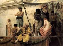 Gustave Clarence Rudolphe Boulanger: marché aux esclaves au Yémen. 1882