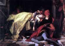 Alexandre Cabanel: la mort de Françoise de Rimini et de Paolo Malatesta. 1870. Paris, musée d'Orsay