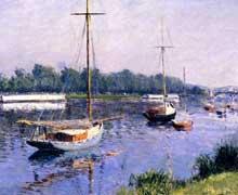 Gustave Caillebotte: Le bassin à Argenteuil. 1882. Collection particulièr