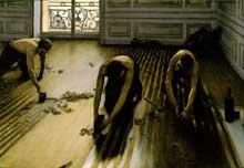 Gustave Caillebotte: Les raboteurs de parquet. 1875. Paris, Musée d'Orsay