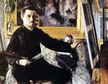 Gustave Caillebotte: Autoportrait à la palette. 1879-1880. Collection particulière