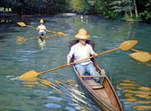 Gustave Caillebotte : pagayeurs. Washington, National Gallery of Ar