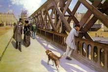 Gustave Caillebotte: Le Pont de l'Europe. 1876. Huile sur toile, 125 cm x 181 cm. Genève, musée du Petit Palais