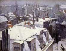Gustave Caillebotte: Vue de toits, effet de neige. 1878. Huile sur toile, 64 cm x 82 cm. Paris, musée d'Orsay