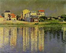 Gustave Caillebotte: Bord de Seine à Argenteuil. 1889. Huile sur toile, 54 cm x 65 cm. Collection privée