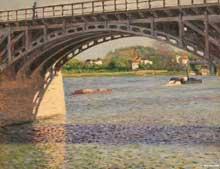 Gustave Caillebotte: Le pont d'Argenteuil. Huile sur toile. New York, Metropolitan Museum of Art.