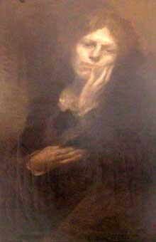 Eugène Carrière: Fantine abandonnée. 1903. Huile sur toile. Paris, maison Victor Hugo