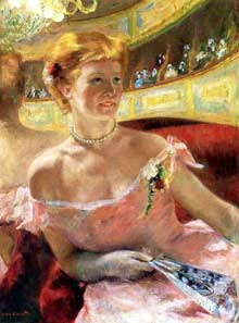 Mary Cassat: La loge. 1878-1879. Philadelphia Museum of Art