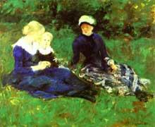 Mary Cassat: Sur la prairie. 1880. Huile sur toile. Collection privée