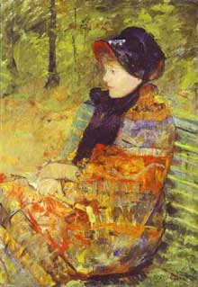 Mary Cassat: Portrait en profil de Lydia Cassatt, sœur de l'artiste. 1880. Huile sur toile. Paris, Musée du Petite Palais