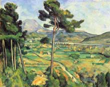 Paul Cézanne: La Montagne Sainte-Victoire vue de Bellevue. 1882-1885. Huile sur toile, 65,5 x 81,7. New York, Metropolitan Museum of Art