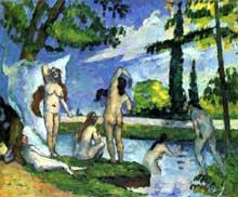 Paul Cézanne: Baigneuses. 1874-1875. Huile sur toile, 38 x 46 cm. New York, Metropolitan Museum.