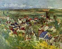 Paul Cézanne: Toits à Auvers.1874. Huile sur toile, 65 x 80 cm. Chicago, Institute Museum