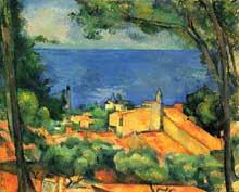 Paul Cézanne: L'Estaque. 1882-1885. Huile sur toile, 65 x 81 cm. Collection privée