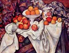Paul Cézanne: Nature morte aux pommes et aux oranges. 1895-1900. Huile sur toile, 73 x 92 cm. Paris, Musée d'Orsay