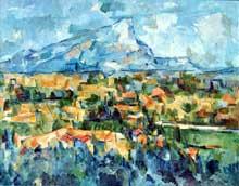 Paul Cézanne: la montagne sainte Victoire. 1904. Huile sur toile, 70 x 92 cm. Philadelphie, Museum of Art