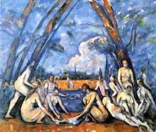 Paul Cézanne: les grandes baigneuses. Vers 1906. Huile sur toile, 208 x 249 cm. Philadelphie, Museum of Art