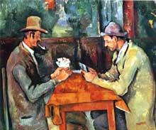 Paul Cézanne: les Joueurs de Cartes. 1892. Huile sur toile. Londres, Courtauld Institute