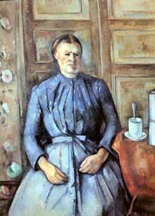 Paul Cézanne: la servante à la cafetière. 1890-1894. Huile sur toile. Paris, musée d'Orsay