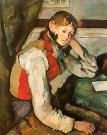 Paul Cézanne: jeune garçon au gilet rouge. 1888-1889. Zurich, collection E.G. Buhrle