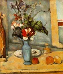 Paul Cézanne: le vase bleu. 1885-1887. Huile sur toile, 61 x 50 cm. Paris, musée d'Orsay