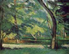 Paul Cézanne: L'Etang des Soeurs, Osny. 1875. Huile sur toile, 60 cm x 73,5 cm. Londres, Courtauld Institute Galleries