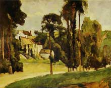 Paul Cézanne: Le Clos des Mathurins à Pontoise. 1875-1877. Huile sur toile, 58 cm x 71 cm. Moscou, musée Pouchkine