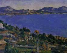 Paul Cézanne: L'Estaque, vue du golfe de Marseille. 1878-1879. Huile sur toile, 59,5 cm x 73 cm. Paris, musée d'Orsay