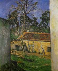 Paul Cézanne: Cour de ferme à Auvers. 1879-1880. Huile sur toile, 65 cm x 54 cm. Paris, musée d'Orsay