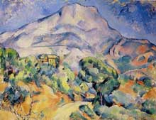 Paul Cézanne: La Montagne Sainte-Victoire. 1895-1900. Huile sur toile, 81 cm x 100 cm. Saint-Pétersbourg, musée de l'Ermitage