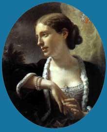 Paul Chenavard, Portrait de Mme d'Alton-Shée, 1863-69, huile sur toile, 61 x 510 cm. Lyon, Musée des Beaux Arts
