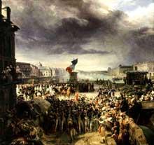 Léon Cogniet: la Garde nationale de Paris part pour l'armée en septembre 1792. 1836. Musée du Château de Versailles