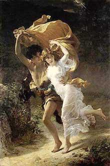 Pierre-Auguste Cot: la tempête. 1880. New York, Metropolitan museum
