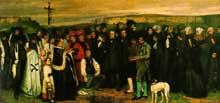 Gustave Courbet: Un enterrement à Ornans, 1850, Musée d'Orsay, Paris
