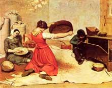 Gustave Courbet: Les Cribleuses de blé, 1854. Huile sur toile, 131 × 167 cm. Nantes, Musée des Beaux Arts