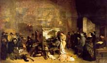 Gustave Courbet: l'atelier du peintre. 1855. Huile sur toile, 359 x 598 cm. Paris, musée d'Orsay