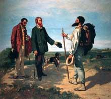 Gustave Courbet: Bonjour Monsieur Courbet, 1854. Huile sur toile, 129 x 149 cm. Montpellier, Musée Fabre
