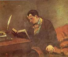 Gustave Courbet : Baudelaire, 1848. Montpellier, Musée Fabre